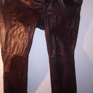 Boot cut genuine leather